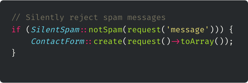 My First Laravel Package - laravel-silent-spam-filter